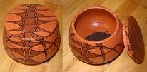 Engobe, Glasur, Keramik, Dose