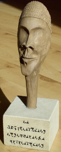 Skulptur, Keramik, Gesicht, Plastik