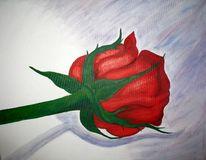 Rose, Acrylmalerei, Stillleben, Malerei