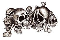 Zeichnungen, Schädel,