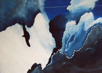 Malerei, Wolken, Adler, Figural