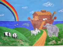 Noah, Giraffe, Tiere, Panda