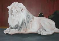 Afrika, Malerei, Löwe, Tiere