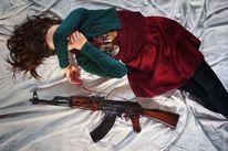 Waffe, Angst, Nachricht, Gewehr