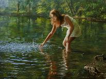 Reflexion, Fotorealismus, Welle, Realismus