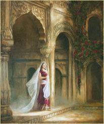 Indien, Orientalismus, Delhi, Ölmalerei