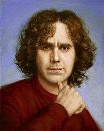 Ölmalerei, Portrait, Selbstportrait, Malerei