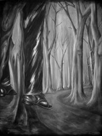 Acrylmalerei, Wald, Bunt, Malerei