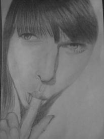 Portrait, Zeichnung, Zeichnungen, Finger