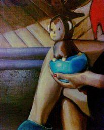 Dekoration, Ölmalerei, Curd stimmeder, Modell