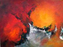 Leuchtend, Dekoration, Abstrakt, Malerei