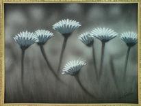 Blumen, Wind, Malerei, Leben
