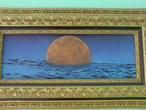 Mond, Malerei, Himmel, Blau