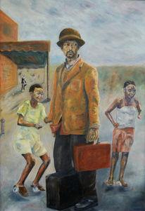 Kapstadt, Figural, Ölmalerei, Menschen
