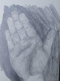 Hand, Skizze, Malerei