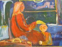 Oma, Zug, Enkel, Zeichnung