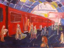 Dom, Hauptbahnhof, Köln, Malerei