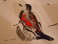 Vögel tusche, Zeichnungen