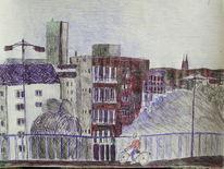 Köln mülheim kugelschreiber, Zeichnungen, Köln