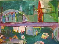 Malerei, Bahnhof, Kölner dom, Kölner