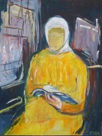 Bahn, Lesende, Malerei