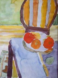 Obstteller, Wohnzimmer, Malerei
