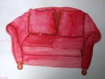 Sofa, Malerei