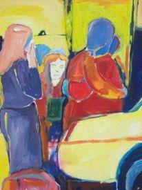 Acrylmalerei, Malerei, Abschied