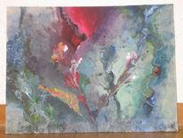 Schnur, Abstrakt, Blumen, Acrylmalerei