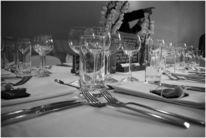 Fotografie, Glas, Tisch, Besteck