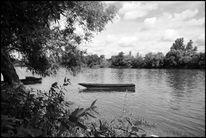 Fotografie, Boot, Schwarzweiß, Landschaft