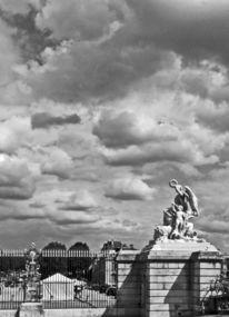 Schwarzweiß, Versailles, Himmel, Fotografie