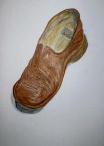 Alt, Skizze, Schuhe, Unbrauchbar