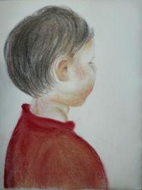 Braun, Junge, Portrait, Abwenden