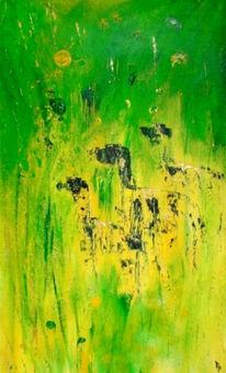 Vorstehhunde, Gelb, Gebannt, Grün