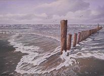Wasser, Welle, Möwe, Malerei