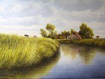 Friesland, Weite, Malerei, Landschaft