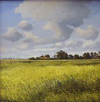 Landschaft, Weite, Malerei, Ostfriesland