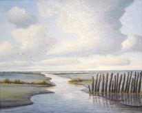 Watt, Nordsee, Friesland, Weite