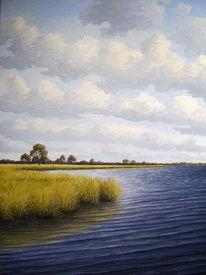 Weite, Ostfriesland, Meer, Ölmalerei
