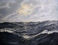 See, Welle, Stimmung, Meer