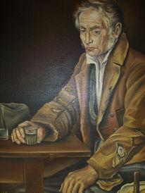Ölmalerei, Glas, Mann, Malerei