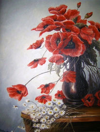 Natur, Ölmalerei, Blumen, Malen