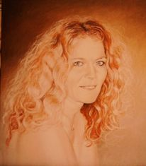 Malerei, Portrait, Figural, Künstlerakt