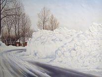 Ostfriesland, Winter, Tettens, Schnee
