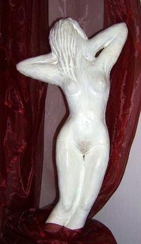 Frau, Akt, Plastik, Figural