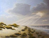 Landschaft, Nordsee, Spiekeroog, Malerei