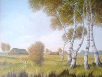Landschaft, Malerei, Moor, Ölmalerei