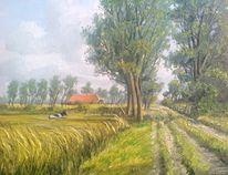 Weite, Landschaft, Malerei, Ostfriesland