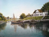 Landschaft, Malerei, Ostfriesland, Friesland